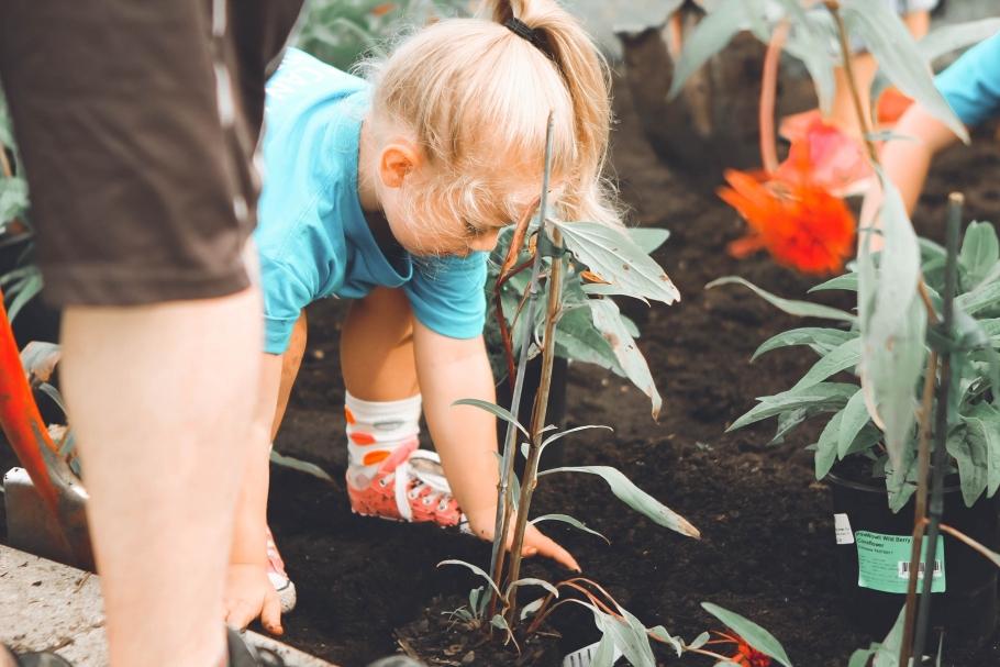 Tuin lentefris samen met de kids!