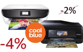 Tijdelijk 4% FamilyCard korting op printers bij Coolblue